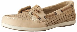 Sperry Top-Sider Women's Coil Ivy Linen Scale Emboss Boat Shoes STS80256 NIB