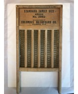 Vintage Washboard Brass No 2062 Columbus Washboard CO Standard Family Si... - $77.39