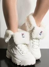 Fila Disruptor Shearling Boots White/Cream Size 8 - $100.00