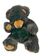 "Russ Berrie Plush Black The Black Bear 9"" Stuffed Animal Soft Toy Vintage - $12.60"