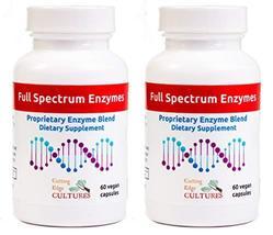 Full Spectrum Enzymes Cutting Edge Cultures Vegan 120 Capsules Proprietary Blend - $52.27
