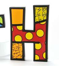 """6"""" Romero Britto Alphabet Letter Figurine Various Freestanding or Wall Mounted image 7"""