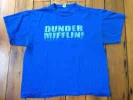Dunder Mifflin Paper Office TV Delta Pro Weight Blue 100% Cotton T-Shirt... - $1,000.00