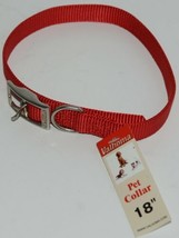 Valhoma 730 18 RD Dog Collar Red Single Layer Nylon 18 inches Package 1 image 1