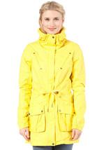 Bench Womens Yellow Alberta B Long in Between Seasons Rain Jacket BLKA1539B NWT