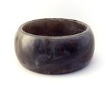 Bangle bracelet lucite marbled black white gray thumb155 crop