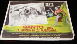 Santo Versus La Invasion De Las Marcianos Lobby Card Lucha Libre Wrestli... - $16.99