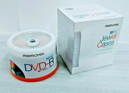Memorex DVD-R Writeable CDs 50 Pack and 30 Pack Jewel Cases - New - $39.95