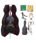 4/4 Size Black Cello,Hard Case,Soft Bag,Bow,Strings,Tuner,2 Bridges,2 St... - $299.99