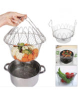 Chef Basket kitchen tool, steam, rinse Utensil 12 in 1 rinse strain pasta - $15.00