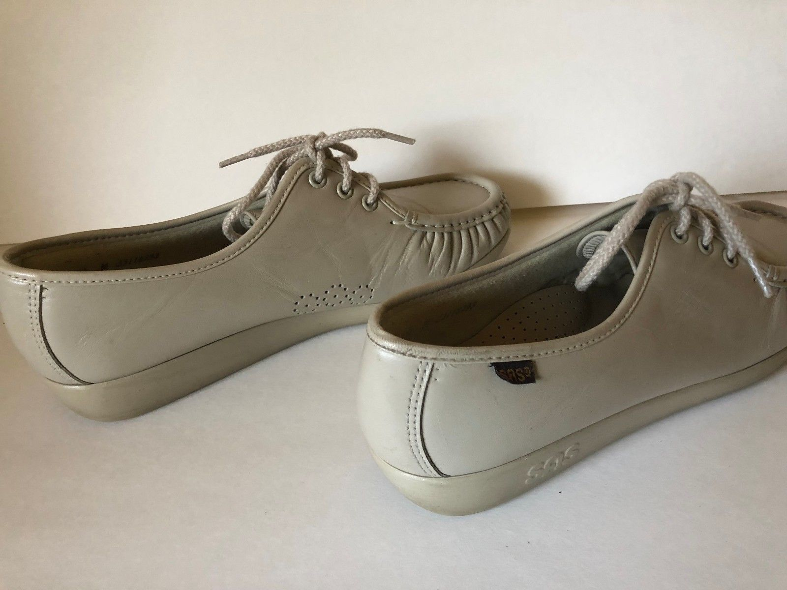 392bad79f12ec3 Genuine SAS Comfort Shoes Handsewn Leather Oxford Lace Up Loafers Size 10 M