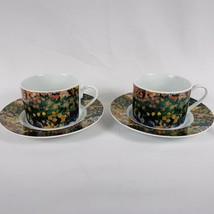 Vincent Wildflowers Sakura Cups Saucers 2 Sets Porcelain Van Gogh Cottag... - $19.79