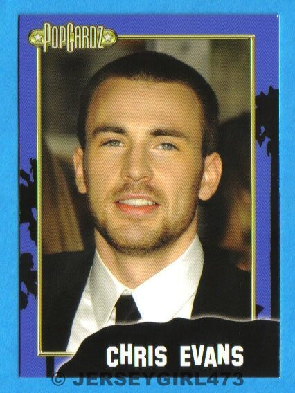 Chris Evans 2008 PopCardz Celebrity Card ~ The Avengers