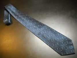 Joseph Abboud Neck Tie Made in Italy Dark Blue with Lighter Blue Accents Silk - $12.99