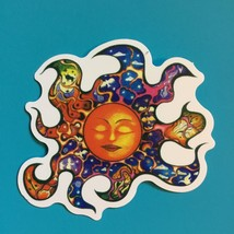 Small Mosaic Trippy Sun Vinyl  Sticker   Hippie - $3.29