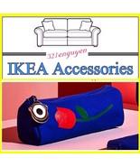 TWO (2X) IKEA FÖRNYAD Canvas Pen Pencil case / Blue With Rose Canvas 604... - $9.99