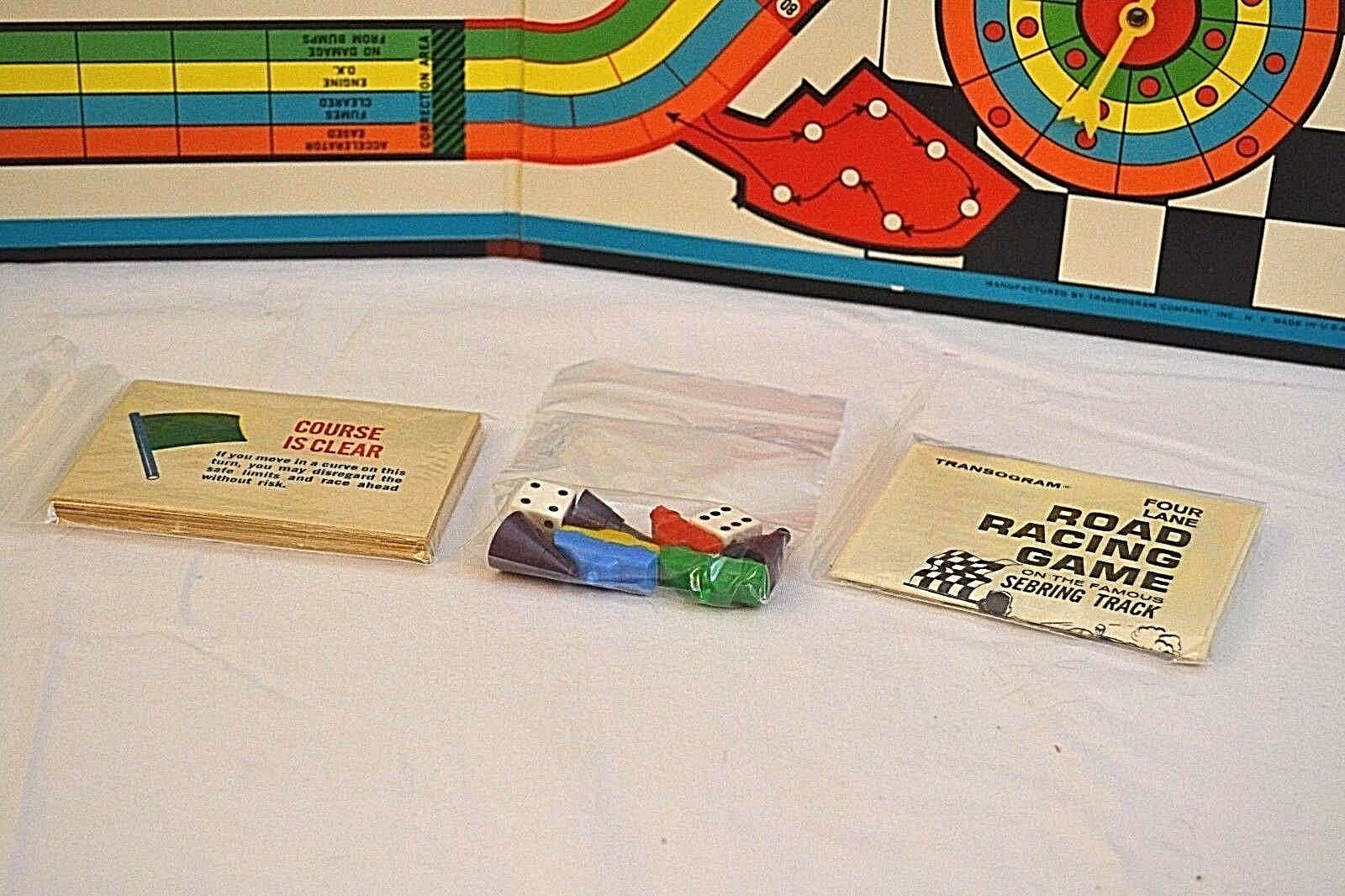 Transogram Rare Four Lane Road Racing Game on the Famous Sebring Track 1963  image 8