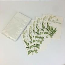 6 Vtg Unused In Appreciation for Sympathy Cards w Envelopes American Gre... - $10.39