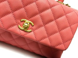 NEW AUTHENTIC CHANEL 2019 QUILTED CALFSKIN COCO HANDLE BAG GHW image 5