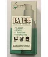 NEW In Box NUVENTIN Tea Tree Clarifying Face Oil Helps Blemishes Calms Redness - $24.06