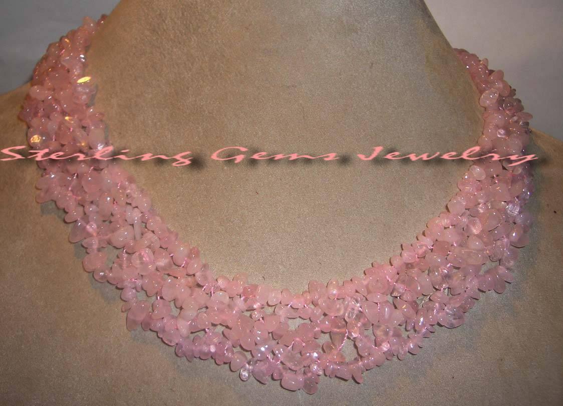 Rose quartz z532 necklace necklace