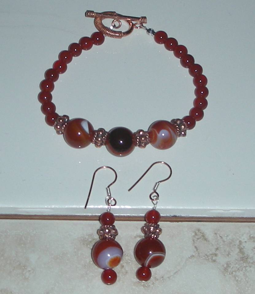 Carnelian and copper
