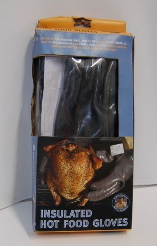 SR Best of Barbecue Insulated Hot Food Gloves Gray 1 Pair