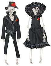 The Gothic Collection Mexican Bride and Groom Skeleton Couple Hanging Ha... - $22.19