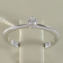 White Gold Ring 750 18K, Solitaire, Stems to Tip, Diamond, Carat 0.10 image 2