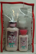 4p. Bath & Body Works GIFT SET BAG TWISTED PEPPERMINT 2 SOAP & 2 LOTION ... - $18.99