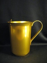 VINTAGE YELLOW / GOLD ANODIZED ALUMINUM ICE LIP PITCHER - $14.46