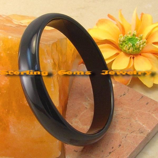 Onyx black 77mm russian  gemstone bracelet