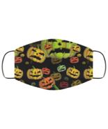 Face Mask Halloween Spooky Pumpkins Jack O'Lanterns Scary v2 2 Ply Light... - $13.95
