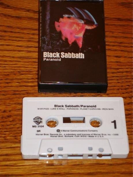 BLACK SABBATH PARANOID ORIGINAL CASSETTE