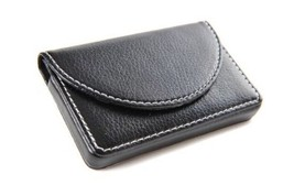 Pindi Black Leather Business Name Card Wallet / Holder with Magnetic Shu... - $17.17