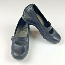 Merrell Plaza Bandeau Women's Size 7 Wedge Mary Jane Black Leather Slip ... - $21.08