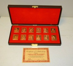 1985 Topps Gallery of Champions BRONZE Complete SET of 12 Gooden Mattingly Gwynn - $24.74