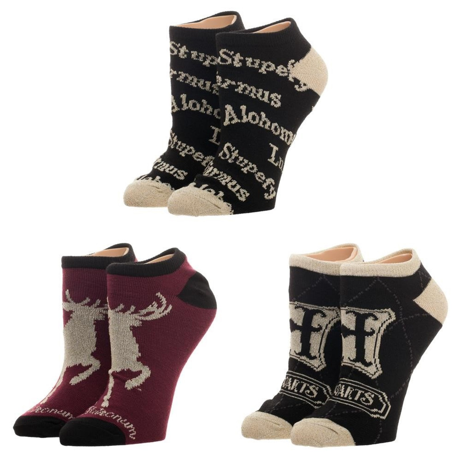 Primary image for Harry Potter Advanced Wizardry 3 Pack Low Cut Lurex Ankle Socks - OSFM