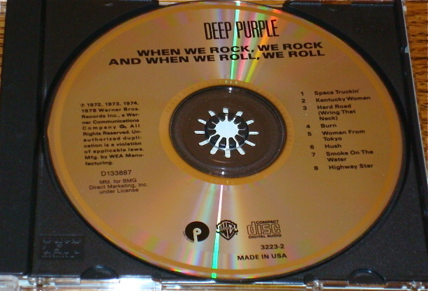DEEP PURPLE WHEN WE ROCK, WE ROCK AND WHEN WE ROLL, WE ROLL CD