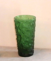 "Anchor Hocking Forest Green Milano Lido 12oz Tumbler 5.5"" Vintage - $5.00"