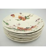 Vintage Royal Doulton Sherborne Lot of 7 Saucers Crazing Scalloped Floral - $14.84
