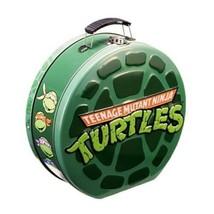 Teenage Mutant Ninja Turtles Shell Shaped Embossed Carry All Tin Tote Lu... - $11.60