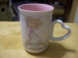 "Precious Moments 1990 Cup Mug ""Dear"" Heart Handle #515442 - $15.00"