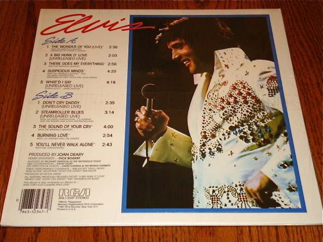 ELVIS GREATEST HITS VOLUME ONE ORIGINAL LP STILL IN SHRINK