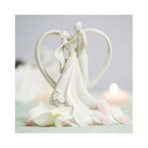 Bride and Groom Cake Toppers Arch Heart Wedding Cake Toppers Romantic Ca... - $37.01