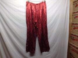 Shiny Strawberry Red Stretchy Oriental Style Lounge Pants - $24.75