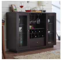 Storage Buffet Server Wine Rack Cabinet Dishes Display Drawers Dining Room - $296.95