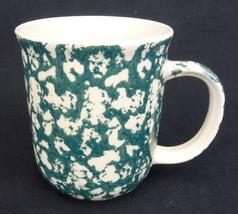 6) Tienshan Folk Craft Moose Country Mugs/Cups-Sponge Green-8 oz.;MICROWAVE SAFE - $24.99