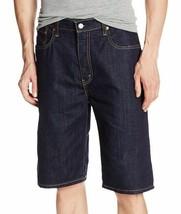New Levi's Men's Premium Cotton Loose Straight Denim Shorts Dark Blue 569-0143