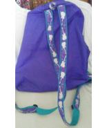 OH MINT Girls Purple Guitar Backpack Duffle Bag RARE  - $24.99